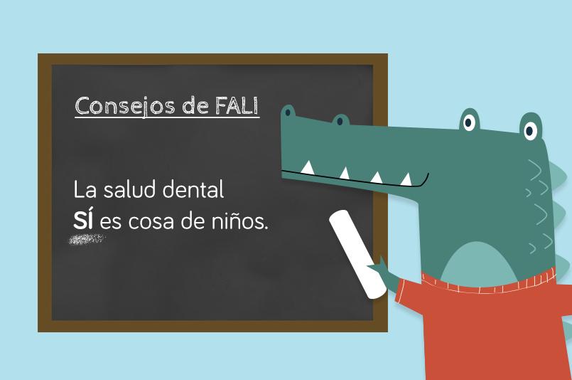 Consejos de salud dental infantil. Fali